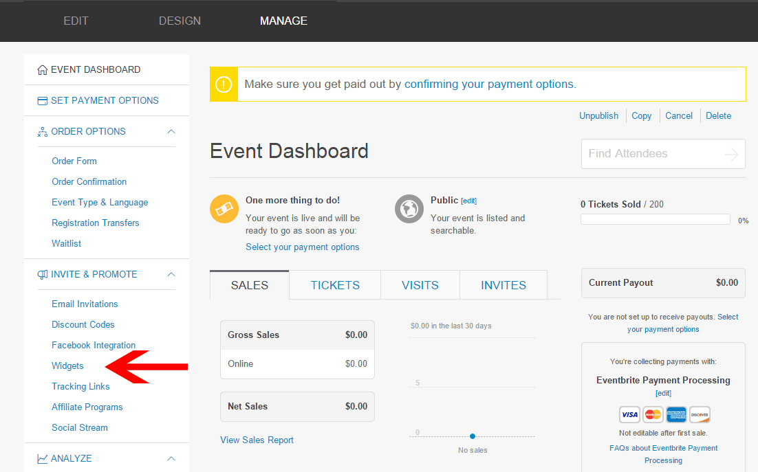 eventbrite widgets