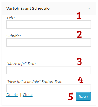 Vertoh event schedule widget