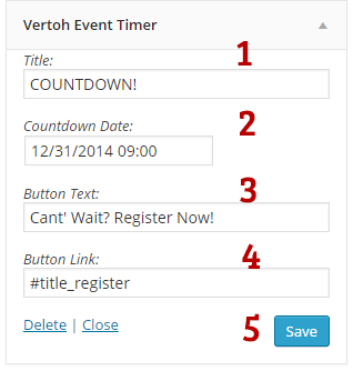 Vertoh Event Timer Widget