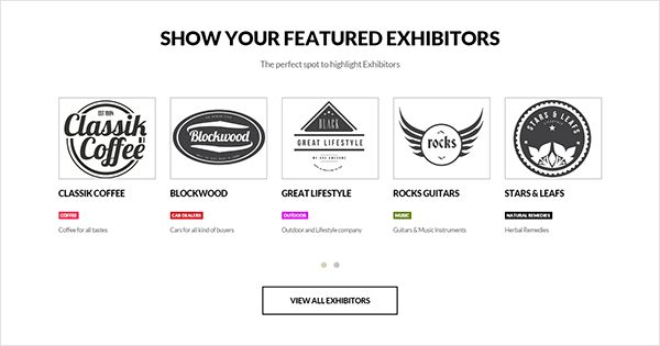 Vertoh exhibitors list widget preview