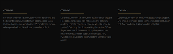 Vertoh footer text columns widget preview