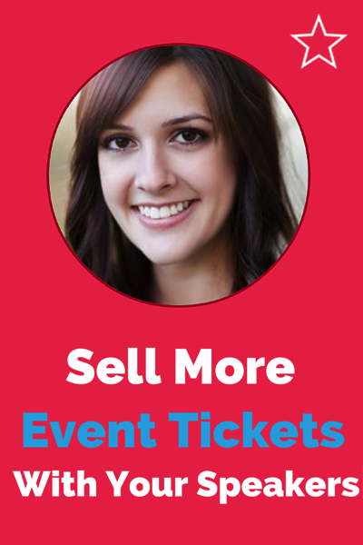 Sell event tickets with speaker profiles