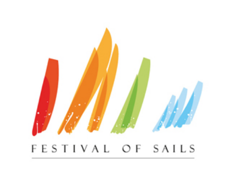 This logo was designed for the Festival Of Sails in Melbourne, Australia. Although the graphic is simple, it is very clear to its audience what this event is about. The colors give the logo some extra pop and make it more memorable.