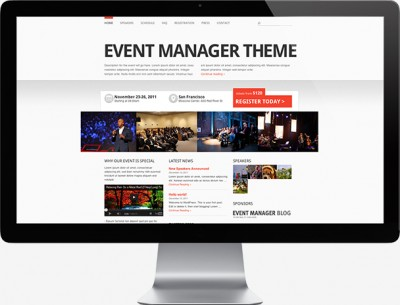 Event Manager WordPress Theme for Event Planners