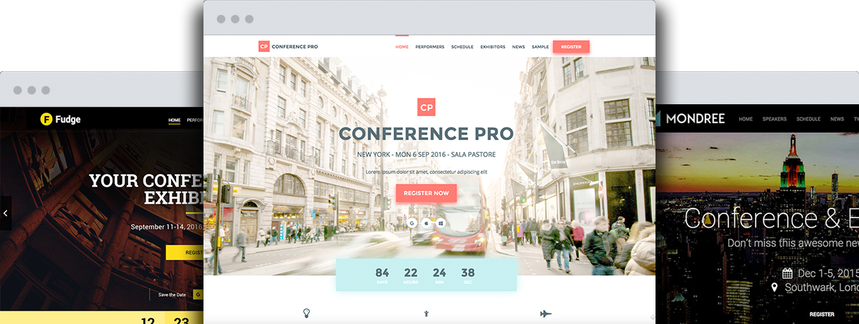 wordpress conference and event themes shop showthemes