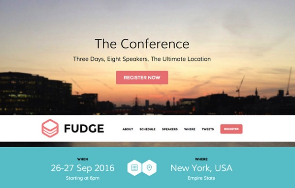 Screenshot of our WordPress conference event management theme
