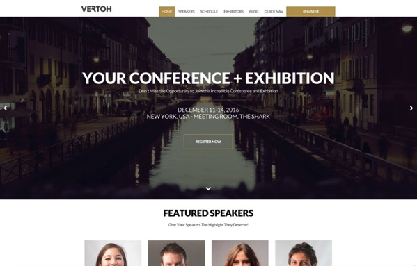 Great speaker/performer profiles function of our association WordPress theme