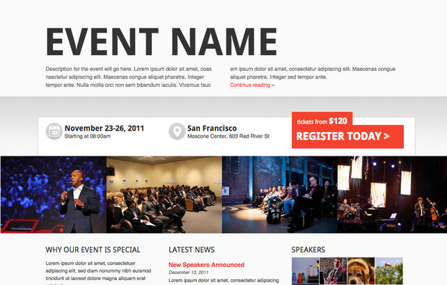 WordPress Conference and Event Themes Shop - Showthemes