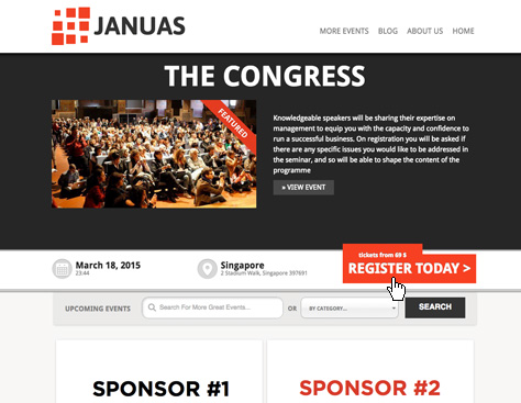 Screenshot of our WordPress multiple conference theme