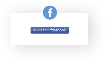 1 Click Import from Facebook