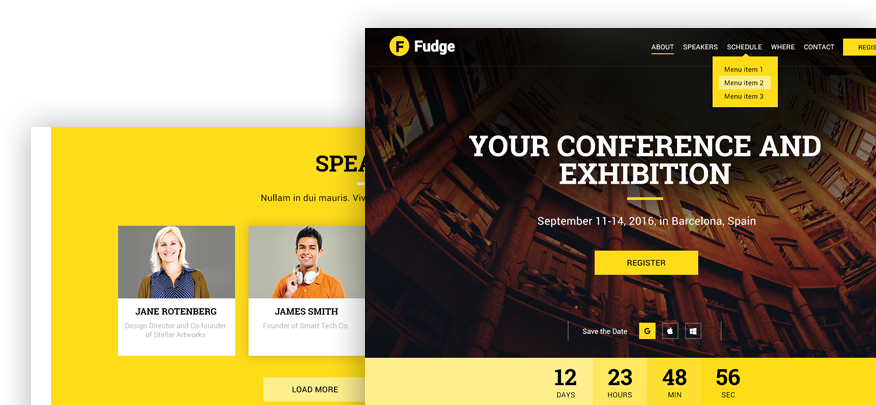 Premium Conference WordPress Theme for Events » Fudge