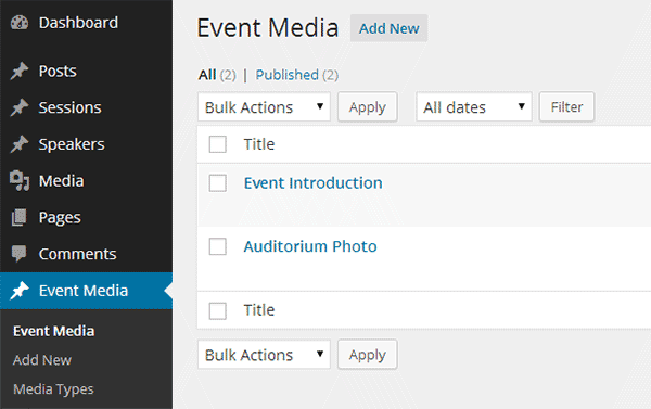 Event Media Added