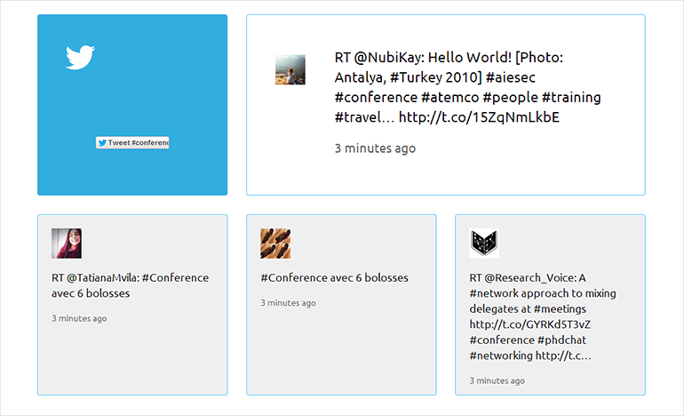 Preview Tyler Latest Tweets on Homepage