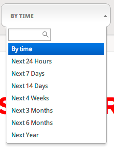 time range - quick search